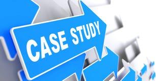 Estudo de caso na seta azul. Imagem de Stock Royalty Free