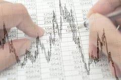 Estudo de oportunidades financeiras Imagem de Stock Royalty Free