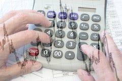 Estudo de oportunidades financeiras Imagem de Stock