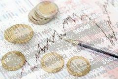 Estudo de oportunidades financeiras Foto de Stock Royalty Free