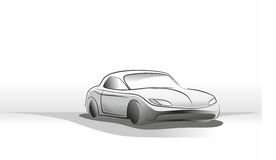 Estudo do carro Fotografia de Stock Royalty Free