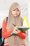 Estudo do estudante da criança dos muçulmanos Imagens de Stock