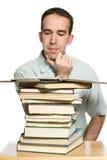 Estudo do estudante universitário Imagens de Stock