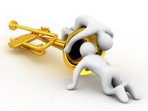 Estudo do instrumento de música Fotografia de Stock Royalty Free