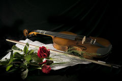 Estudo do violino fotografia de stock royalty free
