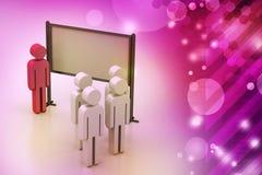 estudo dos povos 3d Fotografia de Stock