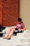 Estudo duramente em Harvard Fotos de Stock Royalty Free