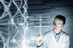 Estudo e pesquisa da bioquímica Meios mistos Imagens de Stock Royalty Free
