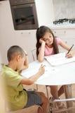 Estudo esgotado das crianças Imagem de Stock Royalty Free