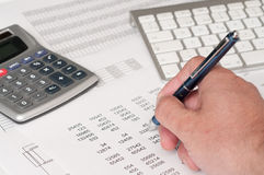 Estudo financeiro Foto de Stock