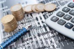 Estudo financeiro Imagens de Stock Royalty Free