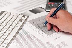 Estudo financeiro Imagem de Stock