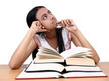 Estudo indiano do estudante. foto de stock