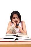 Estudo indiano do estudante. imagens de stock