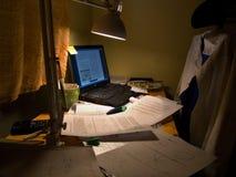 Estudo na noite fotos de stock royalty free