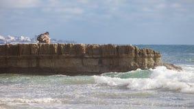 Estudo na praia Imagens de Stock Royalty Free