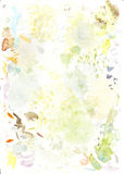 Estudos da cor que misturam na aquarela Imagens de Stock Royalty Free