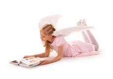 Estudos da menina do anjo Fotografia de Stock
