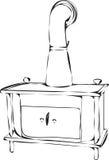 Estufa ardiente de madera Imagen de archivo