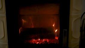 Estufa ardiente de madera casera nacional metrajes