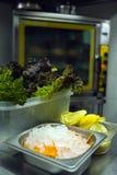Estufa de cocina en café Foto de archivo