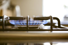 Estufa de gas Foto de archivo libre de regalías