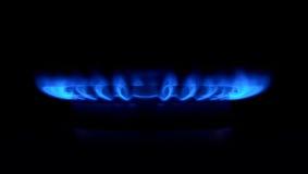 Estufa de gas como fuego azul Fotografía de archivo