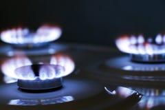 Estufa de gas de la hornilla Imagenes de archivo