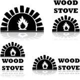 Estufa de madera stock de ilustración