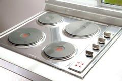Estufa del cooktop de la inducción imagen de archivo libre de regalías