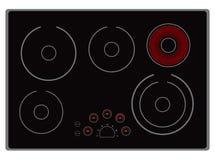 Estufa eléctrica moderna Foto de archivo libre de regalías