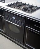Estufa y horno modernos de gas imágenes de archivo libres de regalías