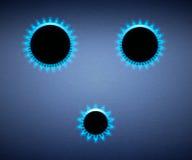 Estufas ardientes. Llama azul Imágenes de archivo libres de regalías