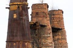 Estufas de cal em Kladno, República Checa, monumento cultural nacional Foto de Stock