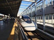 Estupendo exprese en la estación de Japón kokura fotografía de archivo