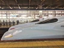 Estupendo exprese en la estación del hakataku de Japón imágenes de archivo libres de regalías