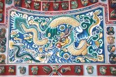 Estuque chinês do dragão fotografia de stock
