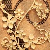 Estuque da flor na parede Imagem de Stock Royalty Free