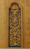 Estuque dourado da flor no templo Banguecoque Imagens de Stock Royalty Free