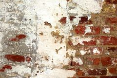 Estuque e parede de tijolo Imagens de Stock