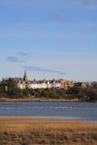 esturary by för alnmouth Royaltyfria Foton