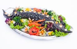 Esturgeon gonflé pour le restaurant et le banquet photographie stock libre de droits