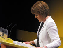 Esturión de Nicola, ministro de salud escocés Foto de archivo libre de regalías
