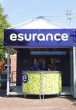 Esurance booth at the Billie Jean King National Tennis Center during US Open 2013 Royalty Free Stock Photography