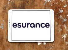 Esurance Insurance company logo. Logo of Esurance company on samsung tablet. Esurance Insurance Services, Inc. is an American insurance company. It sells auto Stock Photo