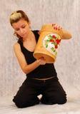 Esvaziando um tambor Fotografia de Stock Royalty Free