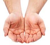 Esvazie as palmas abertas. Imagens de Stock