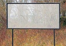 Esvazie assinam dentro o inverno Fotografia de Stock Royalty Free
