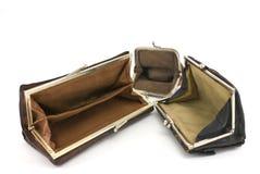 Esvazie bolsas. Imagem de Stock