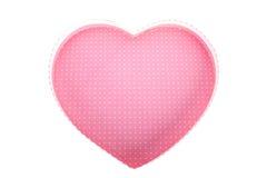 Esvazie a caixa de presente (vazia) da forma do coração (amor) dentro da vista superior isolada Fotos de Stock Royalty Free